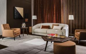 Кресло Casamilano Mayfair Tribeca Leonardo Viola XL - Высокие интерьеры