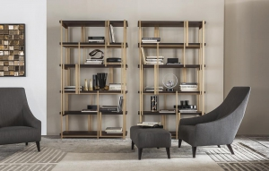 Библиотека Casamilano Mondrian Magenta Bergere Ottoman - Высокие интерьеры