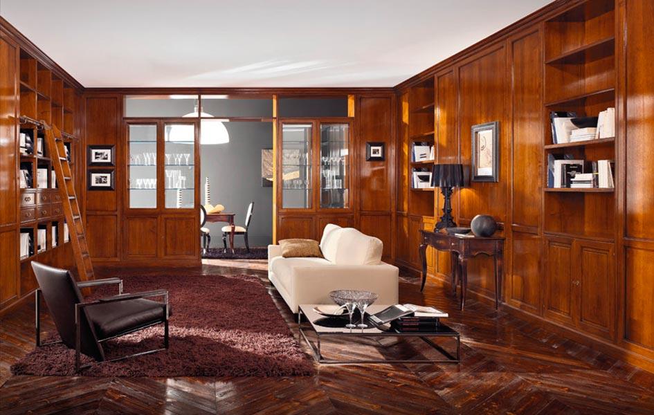 Библиотеки - корпусная мебель - Высокие интерьеры