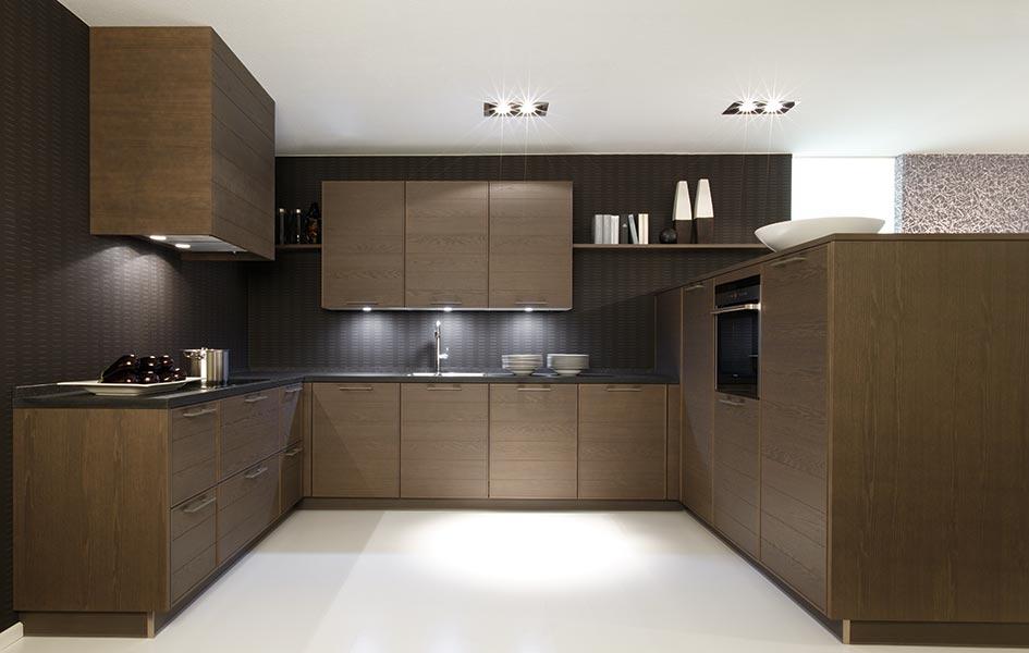 Фасады из массива и шпона для кухни - Высокие интерьеры